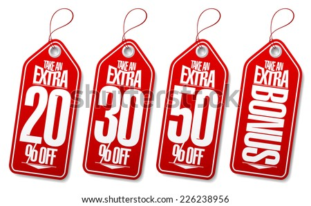 Take an extra bonus coupons tags. #226238956