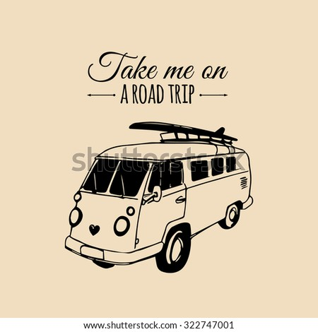 take me on a road trip vector...