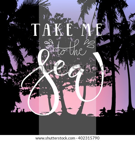 take me to the sea hand written