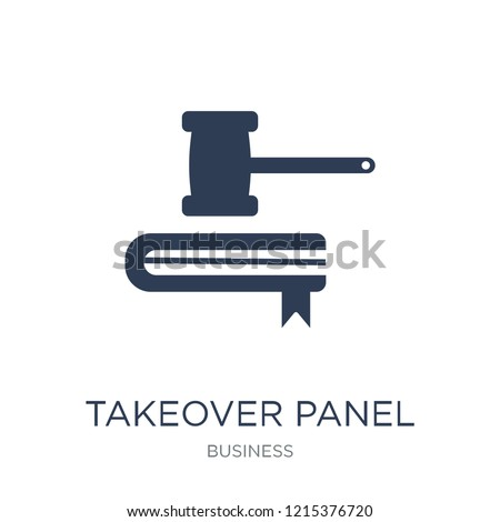 Takeover Panel icon. Trendy flat vector Takeover Panel icon on white background from business collection, vector illustration can be use for web and mobile, eps10
