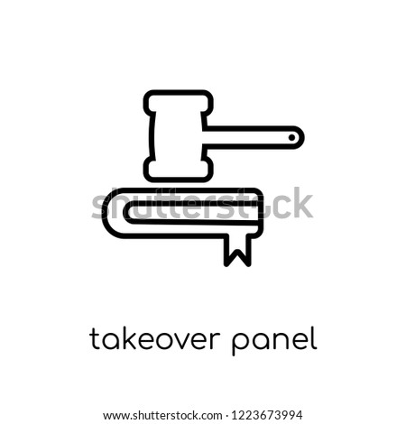 Takeover Panel icon. Trendy modern flat linear vector Takeover Panel icon on white background from thin line business collection, editable outline stroke vector illustration