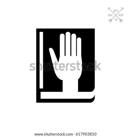 taking oath icon
