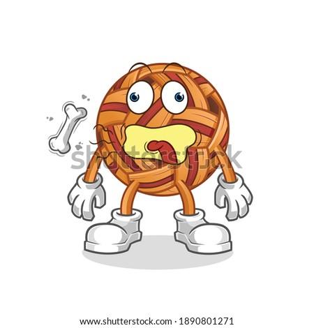 takraw ball burp mascot. cartoon vector