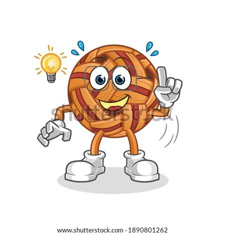 takraw ball got an idea illustration. character vector