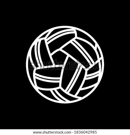 takraw ball icon line style vector editable stroke