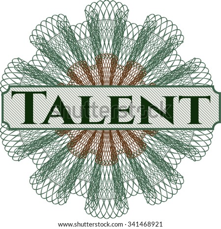 Talent abstract rosette