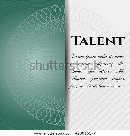 Talent card