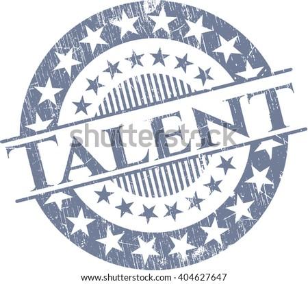Talent grunge seal