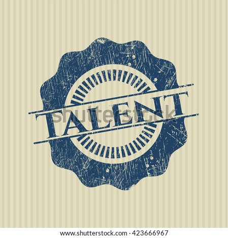Talent rubber grunge stamp