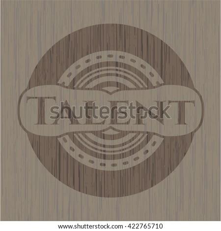 Talent vintage wooden emblem
