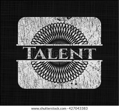 Talent written on a blackboard