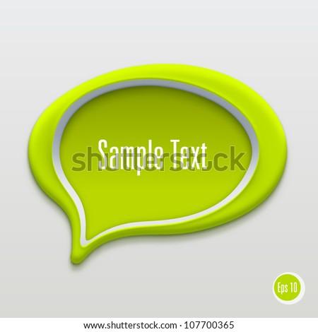 Talk bubble icon. Vector