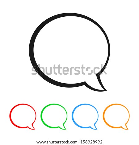 Talk Bubble / Speech Balloon Icon with Color Variations
