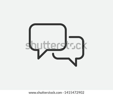 Talk bubble speech icon. Blank empty bubbles vector design elements. Chat on line symbol template. Dialogue balloon sticker silhouette.