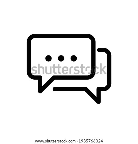 Talk bubble speech icon. Blank empty bubbles vector design elements. Chat on line symbol template. Dialogue balloon sticker silhouette. Chat icon, Communication Line Icon, Communication Line Icon