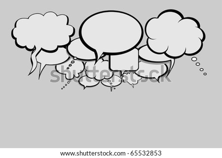 Talk bubbles for the social network