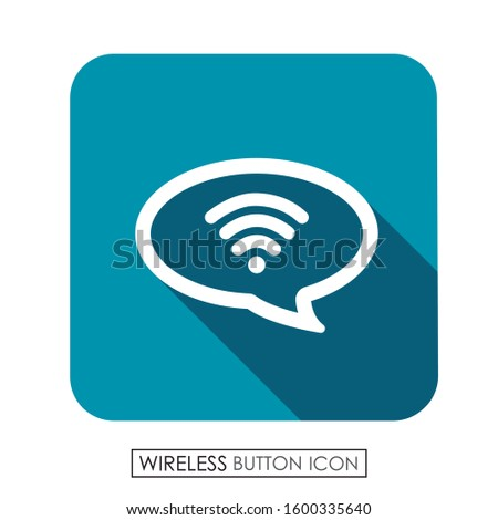 Talk button with wireless. Wireless icon.