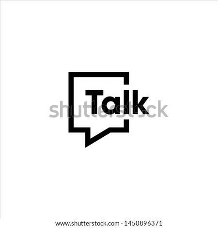 talk logo vector modern illustration graphic abstract template premium