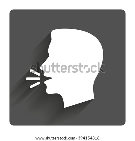 talk or speak icon loud noise