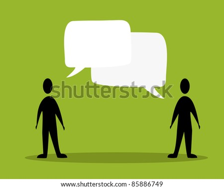 talk people concept in green background