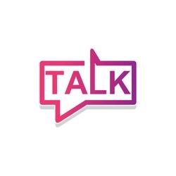 Talk vector icon logotype  design template