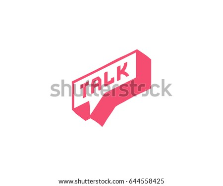 Talk vector logotype