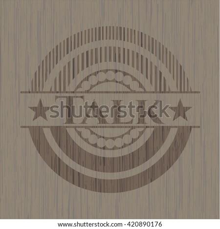 Talk wooden emblem. Vintage.
