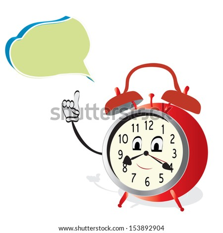 talking alarm clock animated