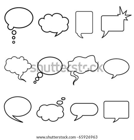talking bubble set