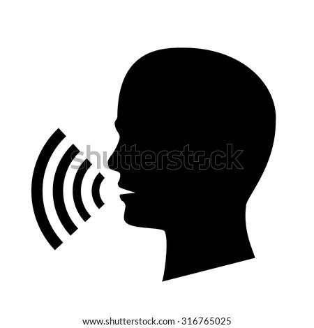 talking icon vector