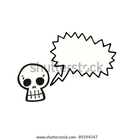 talking skull cartoon