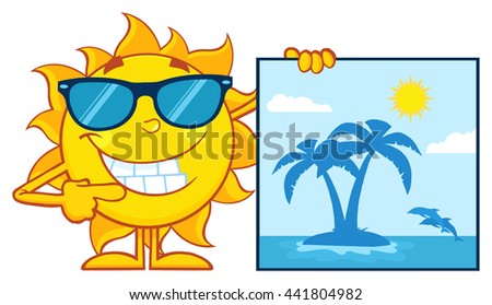 talking sun cartoon mascot