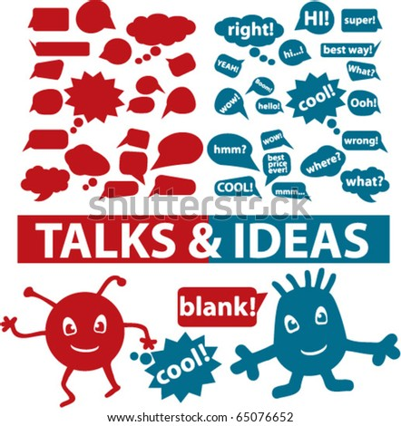 talks & ideas signs. vector