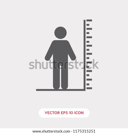 Tall vector icon, height symbol. Tall person icon. Height symbol illustration.  Linear style sign for mobile concept and web design. height symbol logo illustration. vector graphics - Vector.