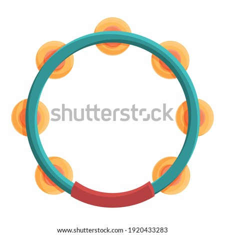 Tambourine instrument icon. Cartoon of tambourine instrument vector icon for web design isolated on white background Stock photo ©