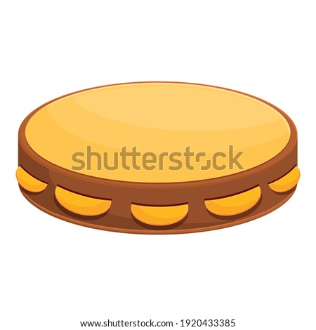 Tambourine music icon. Cartoon of tambourine music vector icon for web design isolated on white background Stock photo ©
