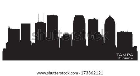 tampa florida skyline detailed