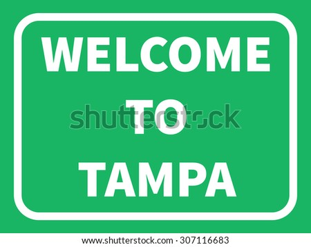 tampa road sign background