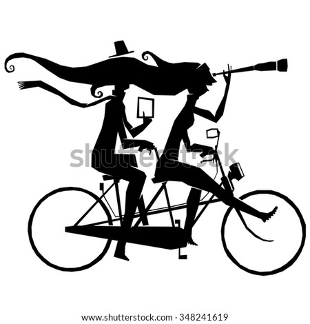 tandem  travel  bike  cycle