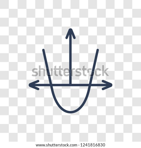 Tangent icon. Trendy linear Tangent logo concept on transparent background from Business and analytics collection