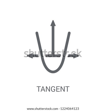 Tangent icon. Trendy Tangent logo concept on white background from Business and analytics collection. Suitable for use on web apps, mobile apps and print media.