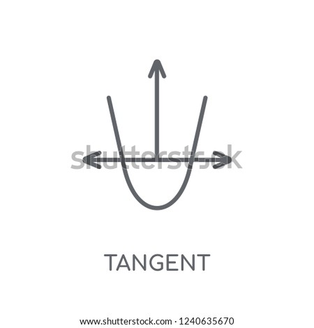 Tangent linear icon. Modern outline Tangent logo concept on white background from Business and analytics collection. Suitable for use on web apps, mobile apps and print media.