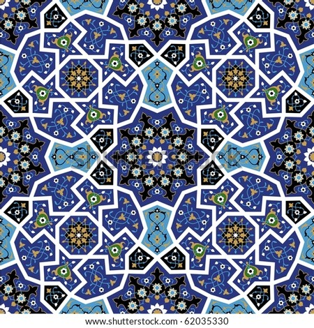 Tanger Seamless Flower Pattern