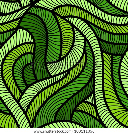 tangled green seamless pattern