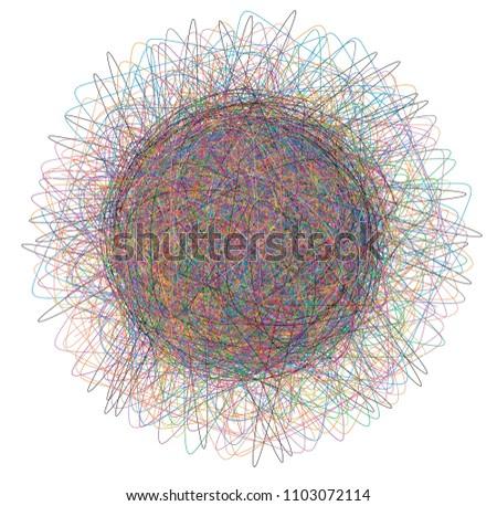tangled thread illustration