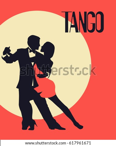 tango poster elegant couple