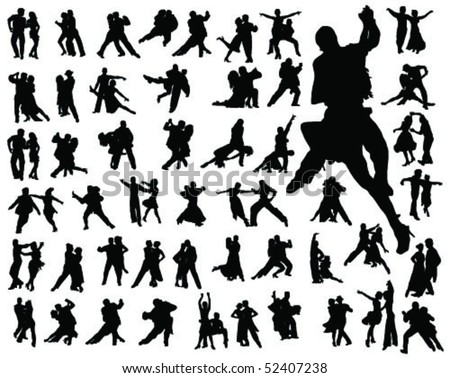 tango silhouette-vector