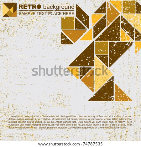 Tangram grunge background - Vector