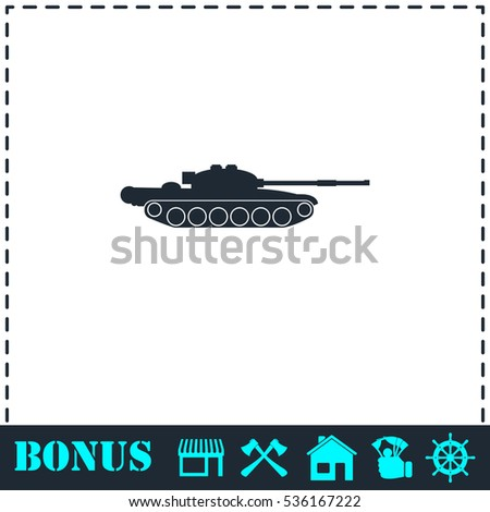 tank army icon flat simple