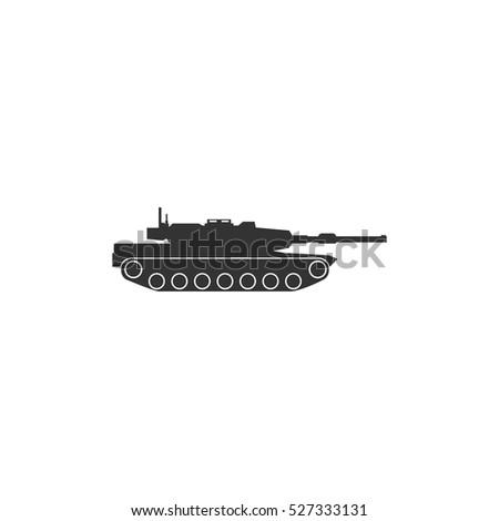 tank icon flat illustration